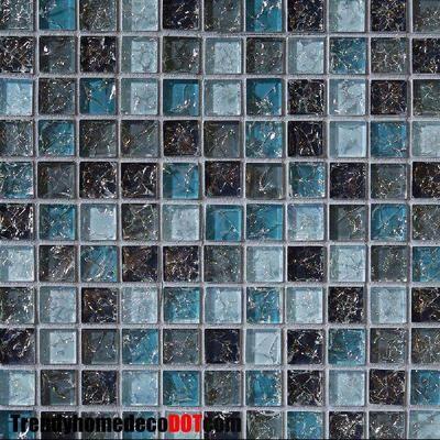Sample  Blue Glass Mosaic Tile Crackle Kitchen Backsplash Bathroom Wall  Sink Spa On EBay!