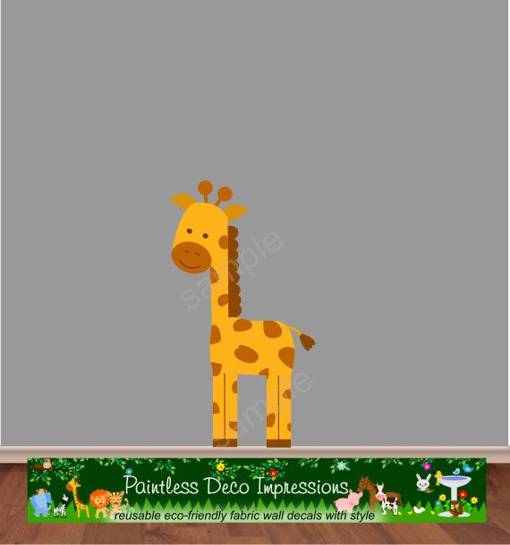 25 best ideas about giraffe fabric on pinterest giraffe - Stickers girafe chambre bebe ...