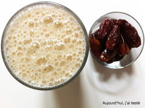 Date Milkshake with Banana, Oats & Applesauce, by Aujourd'hui, j'ai testé