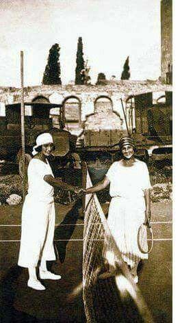 Tenis oynayan kadınlar.  Kadıköy _ Moda _1908