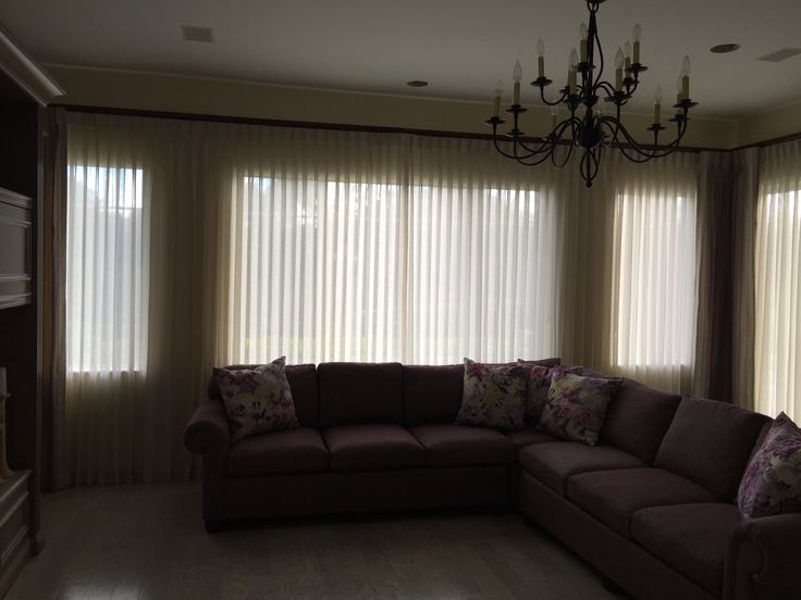 Beautiful Pinch Pleat Curtains Installed In A Gorgeous Living Room Window.  #shades #creation