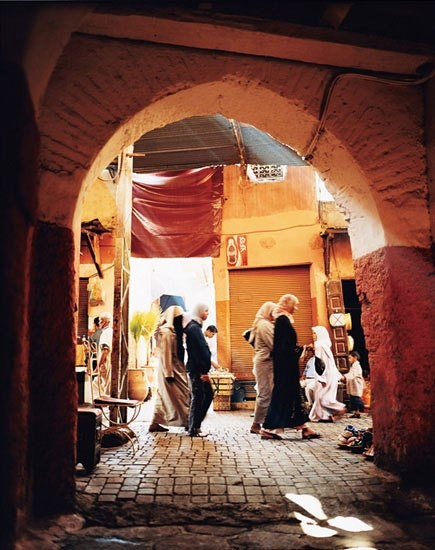 The fully preserved eleventh-century medina in #Marrakech, #Morocco is a #UNESCO World Heritage Site