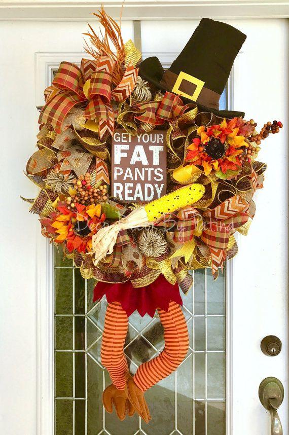 Thanksgiving Wreath  Turkey Wreath  Fall by DecoDecorByPatina