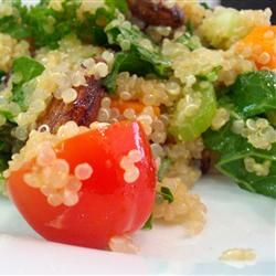 """Quinoa Salad with Mint, Almonds and Cranberries 