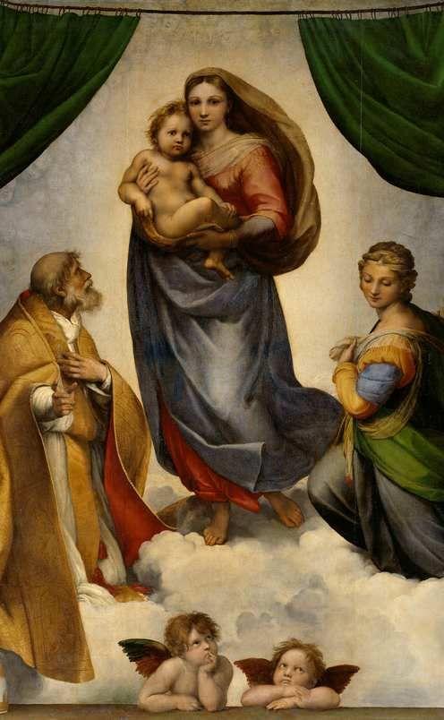"""""""Sistine Madonna"""" - Raphael.                                                                                                                                                                                 Mehr"""