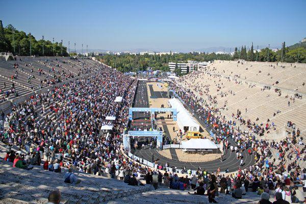 finish Athens marathon (2003 - 4:14u)