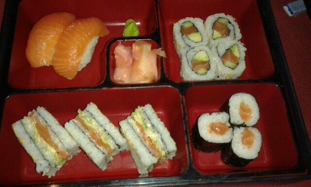 Sushi with a good friend, Nica