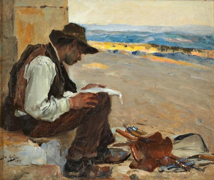 José  Malhoa ( 1855 - 1933)  Portuguese Painter