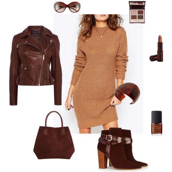 A Bordeaux autumn set by besyata on Polyvore featuring мода, Karen Millen, Warehouse, DESA 1972, L. Erickson, Burberry, Fashion Fair and NARS Cosmetics