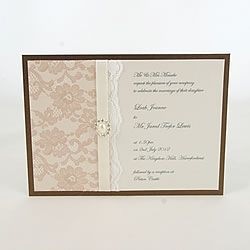 How To Make Your Own Wedding Invitaitons With Lace
