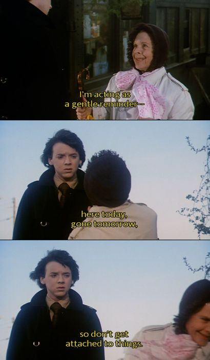 "a little foreshadowing from ""Harold and Maude"" - Bud Cort, Ruth Gordon"