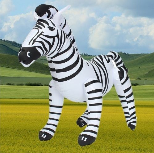 Leuke opblaasbare zebra voor een verjaardagsfeestje.   Feestwinkel Altijd Feest
