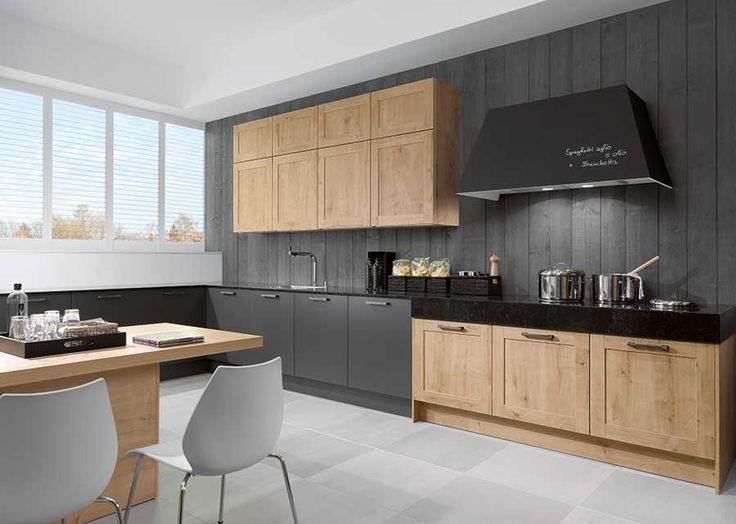 NR Arlington Oak Natural and MC Stratus Grey Luxury Modern Handmade Kitchen