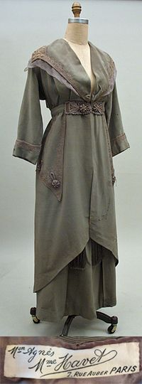 Edwardian French Couture Walking Suit By The House Of Agnes   c. 1912  -  Past Perfect Vintage