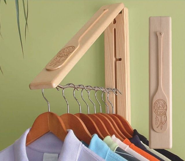 "InstaHANGER ""Country Classic"" craftsman clothes racks"