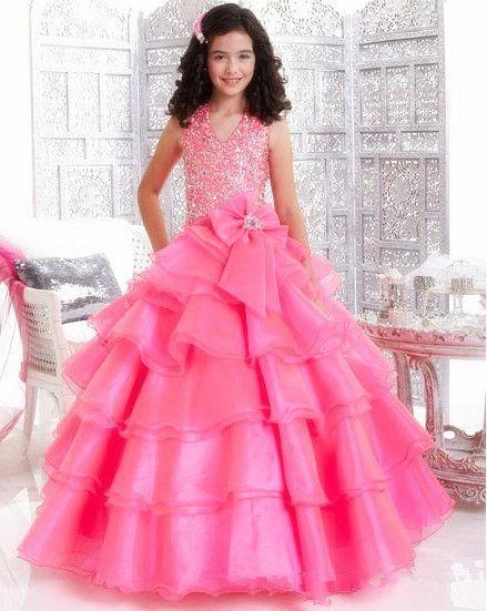 Купить товарКрасивая органзы долго бальное платье цветок девочки платья розовый холтер бисером лиф с бантом створки длина пола без рукавов театрализованное платья в категории Платья для девочек с букетомна AliExpress.                                                                                                               Когд