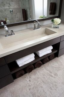In love with this vanity and sink! Pinebrook Residence - contemporary - bathroom - cincinnati - by Ryan Duebber Architect, LLC