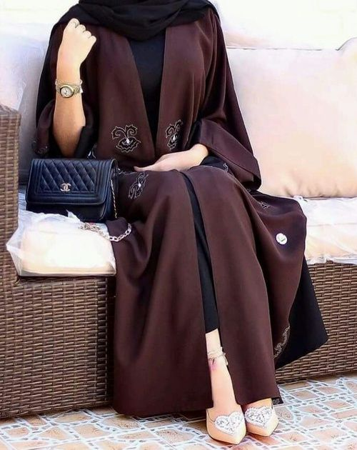 abaya, bag, and beauty image