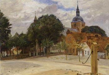 St Nicholai Church in Burg auf Fehmarn, North Germany, 1914  ~ Peter Tom-Petersen ~ (Danish : 1861-1926)