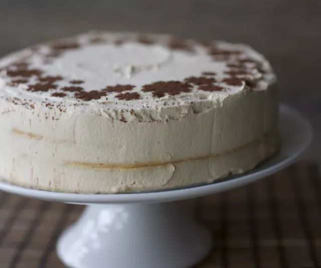 Lucuma Meringue Cake, a traditional Chilean cake.