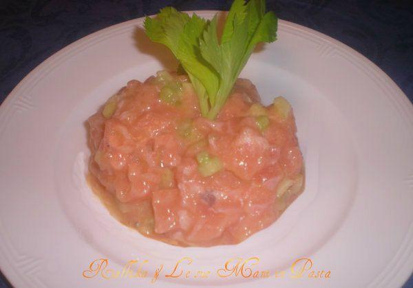 Tartare di salmone,ricetta fresca | Raffika & Le sue Mani in Pasta