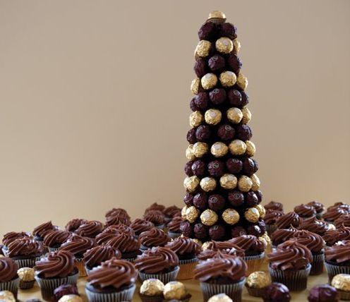 Esta torre de chocolate deixará os seus convidados alucinados e encantados (Foto: ehojevaiserumafesta.com)
