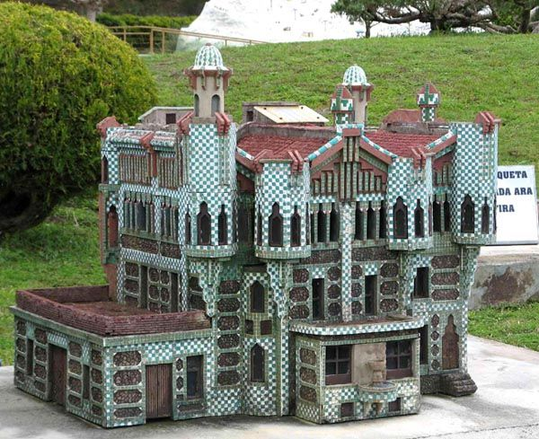 La Casa Vicens, construite par Gaudi à Barcelone