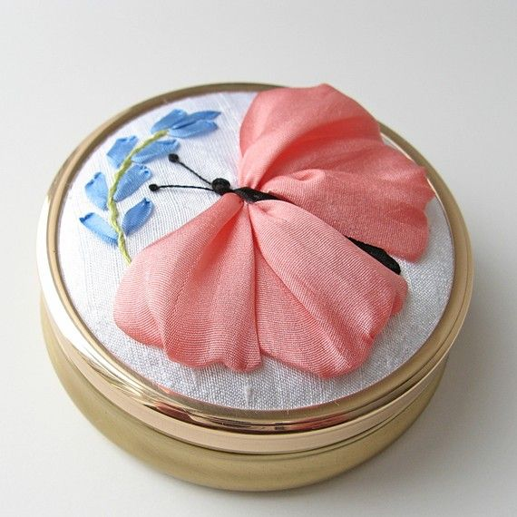Silk ribbon embroidery from bstudio on Etsy