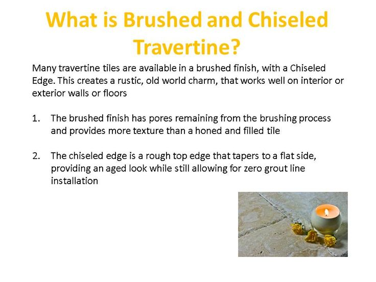 What is Brushed and Chiseled Travertine?