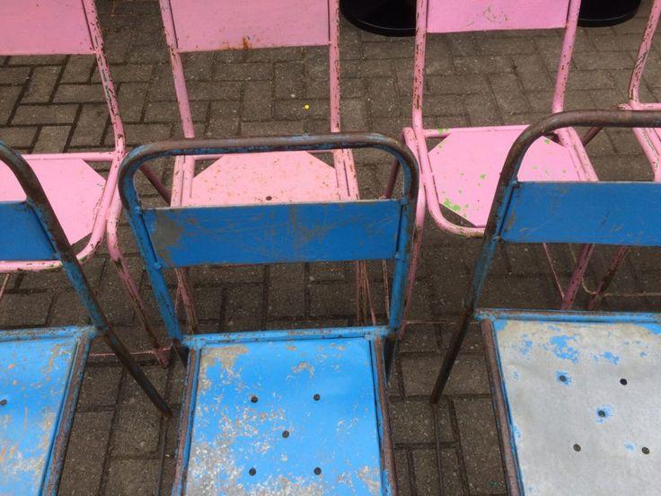 vintage bistro stoel, design, stoel, oud, geverfd