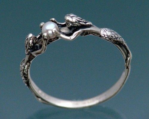 .: Mermaid Ring, Fashion, Favorite Accessories, Style, Pearls Rings, Mermaids Rings, Jewelry, Jewels, Mermaids Pearls
