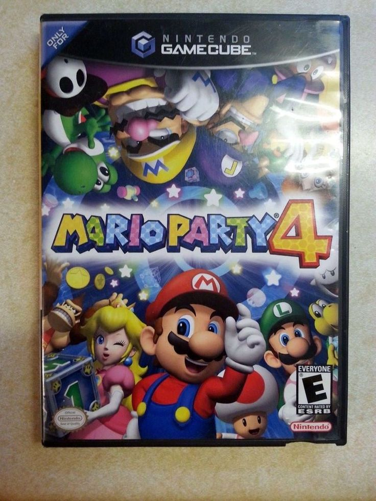 Nintendo Gamecube Game MARIO PARTY 4! Tested. Complete Video Game FUN!