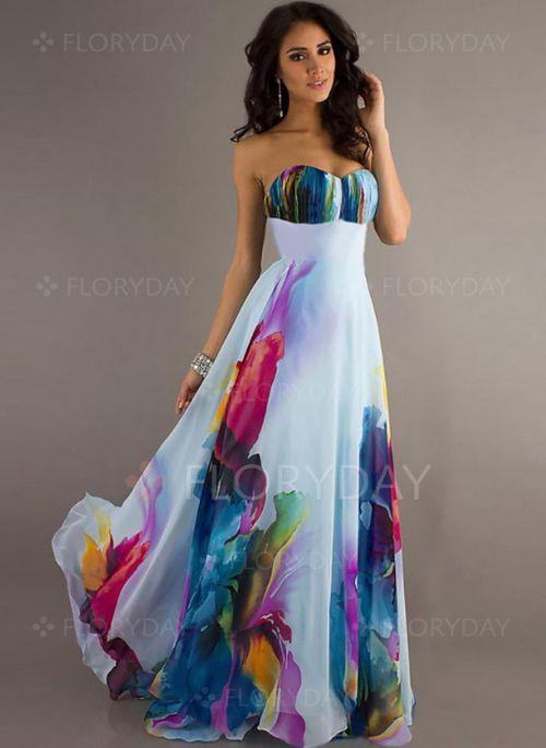 Vestidos+-+$40.99+-+Vestidos+Poliéster+Bloques+de+colores+Hasta+los+tobillos+Sin+mangas+(1955118979)