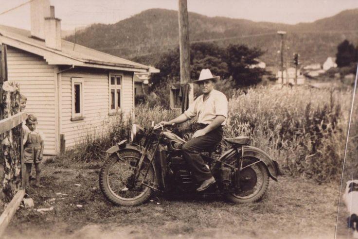 Motorbike in Runanga.   West Coast New Zealand History