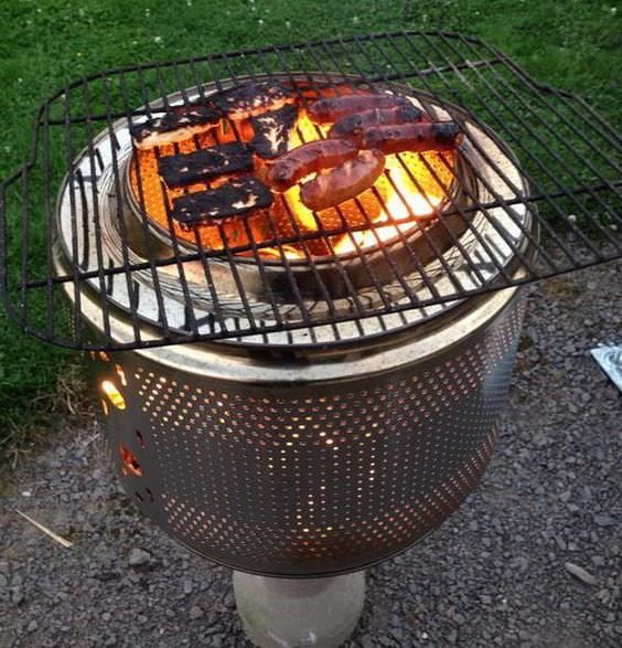 how to build a fire pit grill