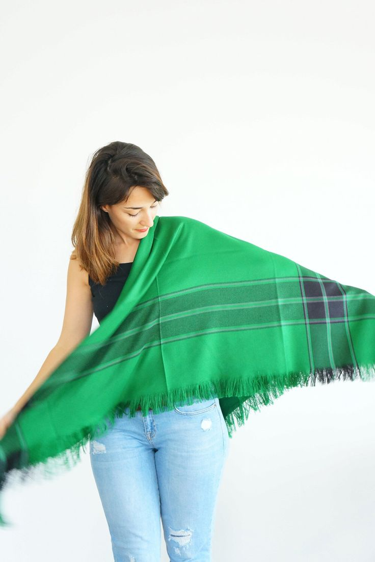 best  green blanket ideas on pinterest  knitted throw patterns  - bridesmaid gifts grass green blanket scarf wedding scarf gift for hergirlfriend gift plaid scarf tarids gifttan scarf winter accessory