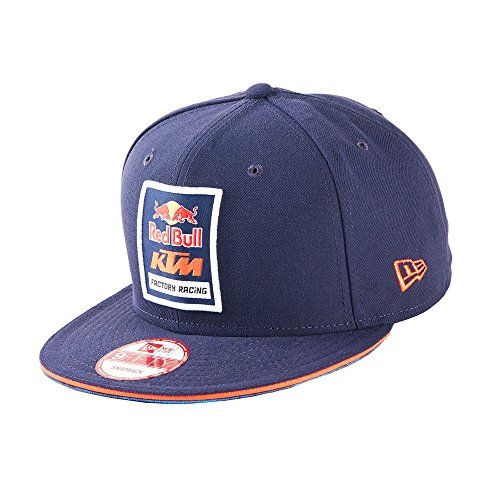 Red Bull Men's Red Bull KTM Factory Racing Logo Hat  Official Red Bull KTM Factory Racing Product  New Era Hat  Gives You Wings Back Embroidery  Snap Back Closure  One Size Fits Most