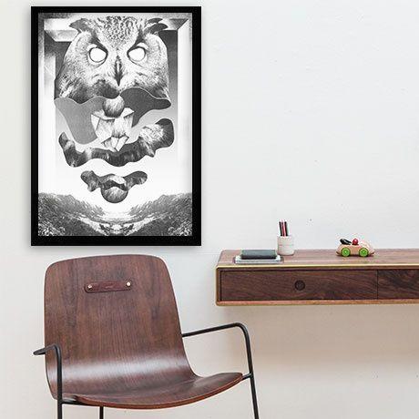 Owl Print by Falko Ohlmer | MONOQI