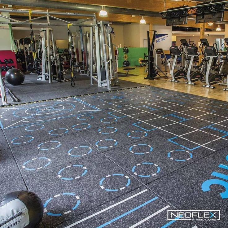 Neoflex Premium Gym Tiles With Functional Training Markings For Actic Fitness S Atc Circuit In Selm Germany A Gym Flooring Rubber Gym Flooring Leisure Center