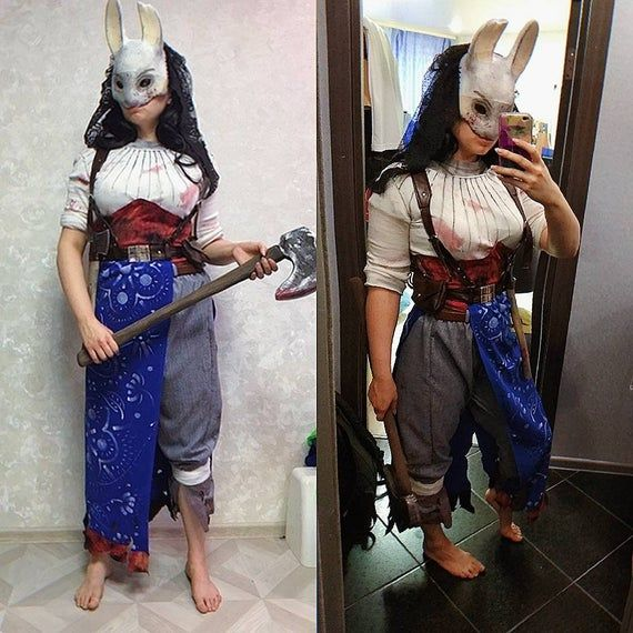 Made To Order Huntress Anna Cosplay Costume And Mask Dead By Daylight Huntress Cosplay Huntress Costume Cosplay Costumes