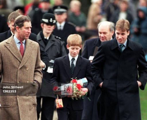 Dec 25 1997 Princes William And Harry Leave The Church On