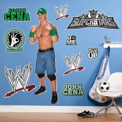 WWE John Cena Giant Wall Decals    $40    Includes (9) wall decals. Vinyl. Largest... more