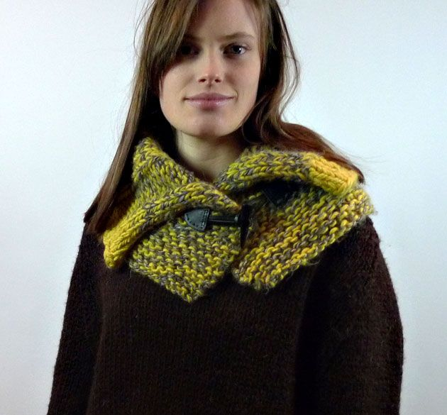 Americo Original / Irene New Yorker Collar - make your own yarn by knitting two different colours together!