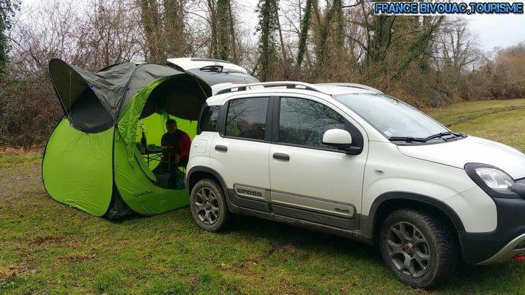 France Bivouac Et Tourisme Tente Base Camp Decathlon Avec Fiat Panda Cross 4x4 Camping Et Voyage En Voiture Baroud Tarp Au Fiat Panda Autocaravane Voiture