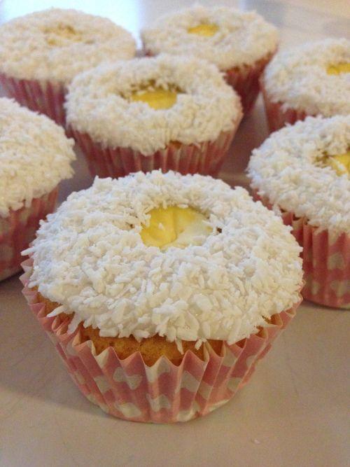 """Muffins med vaniljefyll - """"skolemuffins"""""""