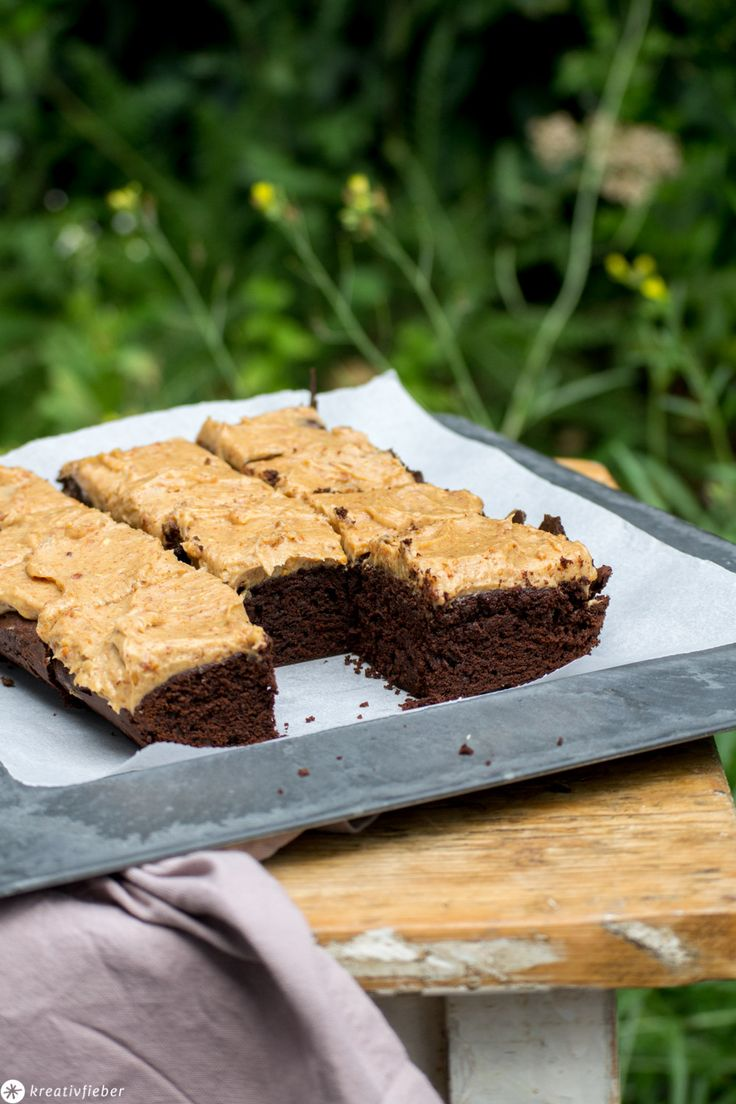 Brownies mit Peanutbutter Topping