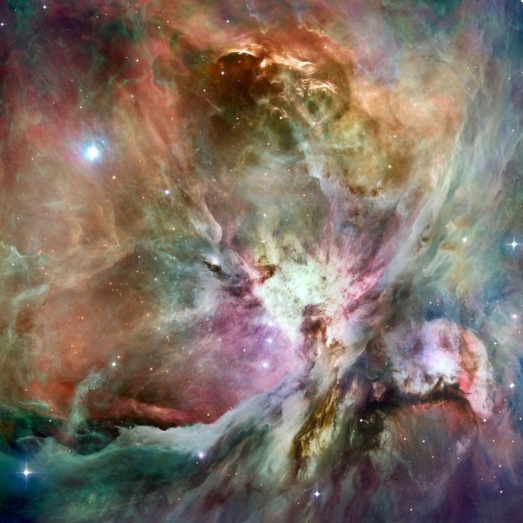 Here is a HST Orion nebula image composited with a Spitzer image for something a…