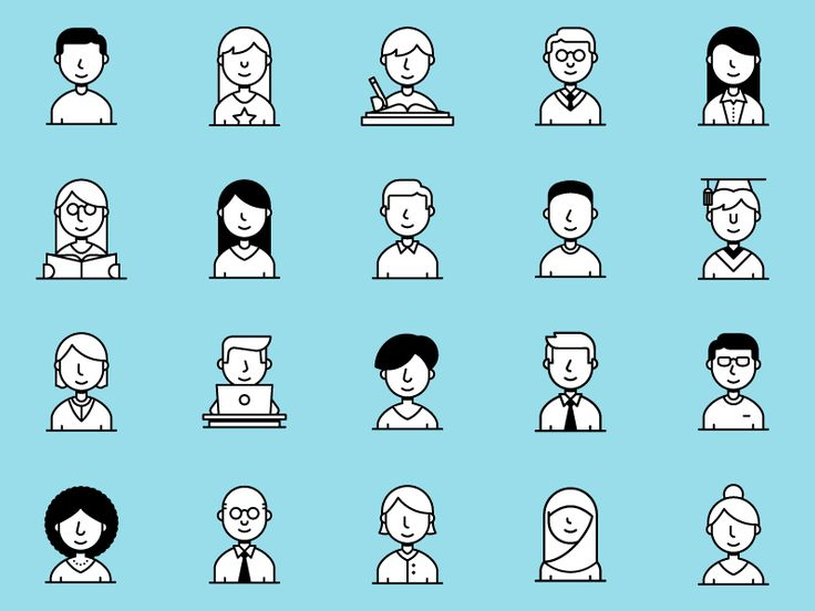 Icon Set  People by Dangerdom #Design Popular #Dribbble #shots