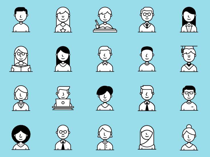 Icon Set  People by Dangerdom #Design Popular #Dribbble #shots