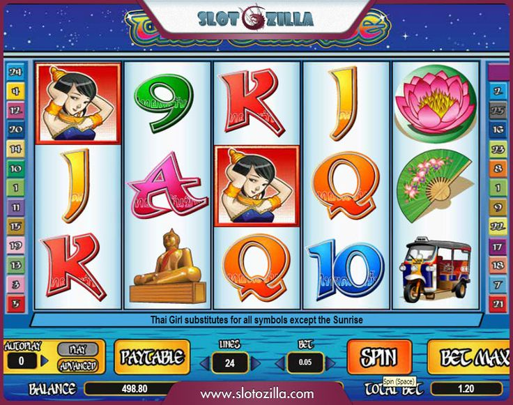 Thai Sunrise™ Slot Machine Game to Play Free in Cryptologics Online Casinos